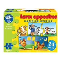 The Original Toy Company - The Original Toy Company Kids Children Play Farm Opposites - Learn about opposites by matching the pieces of these 24 delightful farm puzzles.