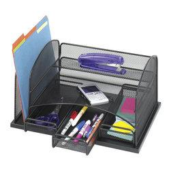 Safco - Safco Onyx Organizer with 3 Drawers - Safco - Desktop Organizers - 3252BL