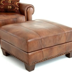 Steve Silver Silverado Leather Ottoman - Caramel Brown - Get ready for the ultimate comfort experience with the Steve Silver Silverado Leather Ottoman - Caramel Brown. A durable hardwood frame and accented legs give this ottoman its traditional charm. The rich caramel brown leather upholstery provides a supple hand, and the 2.0 high-density foam filling adds amazing comfort. Decorated with antique brass nail head trim, this piece is the perfect accent to the Silverado leather chair.About Steve SilverSince its founding in Forney, Texas, in 1987, the Steve Silver Company has had a simple focus: to provide the best quality product at an irresistible price, back it up with uncompromising service, and continue to improve every day. As one of the premier suppliers of dining sets and occasional furniture in the country, Steve Silver is proud to make you, the customer, its top priority, utilizing state-of-the-art equipment, proven operating procedures, and over 500,000 square feet of facilities. You'll feel equally proud displaying furniture from the Steve Silver Company in your home.