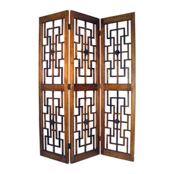 Wayborn - Wayborn Red Chamber Room Divider in Brown - Wayborn - Room Dividers - 2383 -