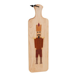 Kentucky Cutting Boards - Nutcracker Bread Board - 'Tis the season for egg nog, Christmas cookies and ye olde nutcracker. This jolly bread board makes a festive seasonal gift or a great addition to your winter kitchen wares. Slice up your bread humming carols and share this jaunty fellow with your friends and family.