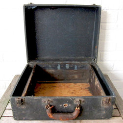 Antique Wooden Storage Box - La Roux Vintage