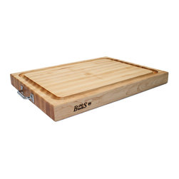 John Boos - John Boos Reversible With Handles & Juice Groove 24 x 18 x 2.25 - Built specifically for the chef who knows the meaning of entertaining guests, comes this extra large John Boos maple block measuring 24 x 18 x 2.25 inches.