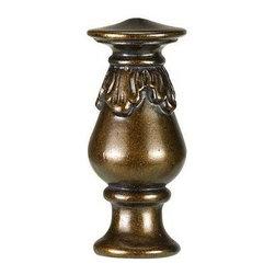 Cal Lighting - 2.75 in. Decorative Resin Finial - Resin Finial . Height: 2.75 in.. Base: 1 in.