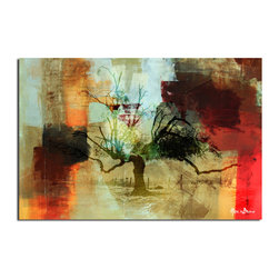 Ready2HangArt - Ready2HangArt Alexis Bueno 'Abstract Landscape II' Oversized Canvas Wall Art - This abstract canvas art is the perfect addition to any contemporary space. It is fully finished, arriving ready to hang on the wall of your choice.