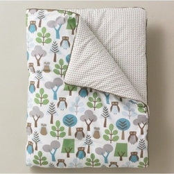 """DwellStudio - Owls Sky Play Blanket - Features: -Material: 100% Cotton with poly fill. -Cleaning and care. -Machine wash cold. -Do not use bleach or detergents containing bleach. -Tumble dry low. -Dimensions: 36"""" H x 50"""" W."""