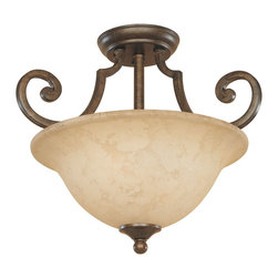 Designers Fountain - Designers Fountain Mendocino Semi-Flush Mount Ceiling Fixture in Forged Sienna - Shown in picture: Semi Flush in Forged Sienna finish