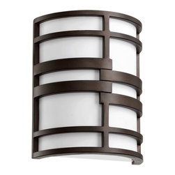 Quorum Lighting - Quorum Lighting Solo Modern / Contemporary Wall Sconce X-68-2025 - Modern and industrial with the slightest hnt of rustic charm, the Solo family is truly an architectural delight. Clean lines and a cylindrical shape add to its interesting profile, while the contrast of the Oiled Bronze finish against a white acrylic shade make it quite the show stopper - whether it's in a downtown loft or asuburban dining room.