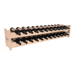 Wine Racks America - 24 Bottle Scalloped Wine Rack in Pine, (Unstained) - Stack two cases of wine in a decorative 24 bottle rack using pressure-fit joints for easy assembly. This rack requires no hardware, no tools, and is ready to use as soon as it arrives. Makes for a perfect gift and stores wine on any flat surface.