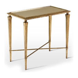 Interlude - Alina Side Table - The antique gold legs and mirrored top of the Alina Side Table combine to add an element of character to that perfect space.