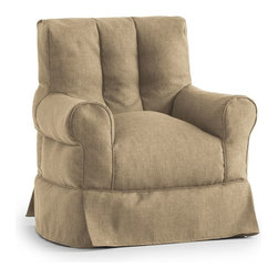 Comfort Research - Comfort Research Big Joe Lux ID Babette Arm Chair - Hitchcock, Golden - Sometimes in life, great things come with not so great costs. For example, the familiar comfort of a traditional framed chair comes with having to justify the price tag to yourself, then figure out how to haul a heavy piece of furniture home. Well, do yourself a favor  and meet the Babette Arm Chair. It has all the curves, comfort and style of a traditional framed chair, but at a fraction of the weight and cost. And thanks to the UltimaX Beans, durable fabric and a rainbow of color options, you'll look as good as you feel when sitting  on a Babette! Filled with UltimaX Beans that conform to you.  Double stitched and double zippers. Spot clean.