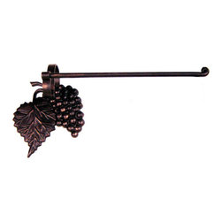 Iron Artistica - Iron Artistica Grapevine Wall-Mounted Paper Towel Holder - The intricate cast iron details of the Grapvine Paper Towel holder are simply stunning and create a truly gorgeous piece. Available in Bronze Rust finish. DOES NOT include hanging hardware.