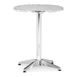 Zuo - Christabel Folding Table Aluminum - This bistro-style aluminum folding table is weather resistant and makes a nice spot for morning coffee on your patio. The lightweight allows you to easily fold and move the table around. The gleaming silver finish holds up against UV rays.