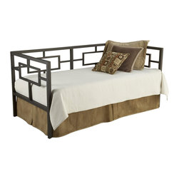 Hillsdale - Hillsdale Chloe Metal Daybed in Bronze Finish - Hillsdale - Daybeds - 1516DBLH - The Chloe Metal Daybed is constructed of heavy gauge tubular steel and finished in bronze. The straight lines and perfect squared angles are inspired by Asian influenced designs for a stunning and radiant appeal. Distinctly contemporary in style the Chloe Metal Daybed issure to garner praise from all who see it.