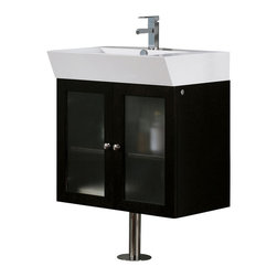 Vigo - Vigo 25-inch Single Bathroom Vanity - The beauty and quality of this Vigo bathroom vanity is unmatched. No other brand can match Vigo's style, quality and design.