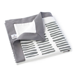 Oilo - Sticks Play Blanket, Pewter - You don't have to trade your personal style for parenthood when there are modern baby blankets like this one. The cool slate color against the crisp white makes a perfectly modern place for baby to stretch out and play. You won't be embarrassed to spread out this 40-by-50-inch blanket on your living room floor. In fact, you may be wishing it came in a grown-up size!