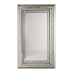 Hooker Furniture - Melange Glamour Floor Mirror - Mirror door opens to reveal felt-lined interior. Interior contains two shelves, ring storage, 42 pouches with Velcro and 20 hooks. 4.25 in. frame thickness. Made from hardwood solids and veneers. Door: 33.50 in. L x 1.25 in. W x 67.38 in. H. Inside door: 33.63 in. L x 3 in. W x 67.50 in. H. Overall: 48 in. W x 82 in. HA glamorous statement pieces, this mirror attaches to the wall for stability. Come closer to Melange, and you will discover something unexpected. An eclectic blending of colors, textures, and materials in a vibrant collection of one-of-a-kind artistic pieces, Melange is meant to inspire you and fuel an experience of self discovery, inspiring a renaissance in your home. Each piece of Melange has its own story. The designs are versatile and timeless, easily transcending from one life stage to the next, from home to home and generation to generation.