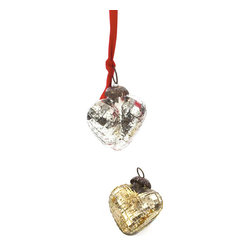 Vintage Chic Home - Set of Nine Antique Gold Textured Heart Ornaments - Beautify your house with this Set of Nine Antique Gold Textured Heart Ornaments that embellishes any corner of your room. It is well- designed in heart shape to provide it an exclusive look and comes in antique gold finish making it really appealing for the onlookers.