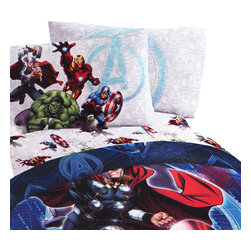 Jay Franco and Sons - Marvel Avengers Twin Sheet Set Suit Up Bedding - Features: