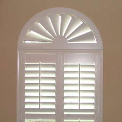 Blinds.com Custom Size Wood Arch - ll Wood Arches are custom-made based on your arch opening measurements. So this is the perfect choice for eyebrow arch shaped windows. The Custom Wood Arch is constructed from MDF, a durable engineered wood product that is resistant to warping, cracking, and breakage.