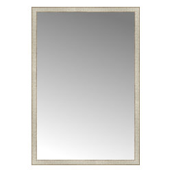"Posters 2 Prints, LLC - 39"" x 57"" Libretto Antique Silver Custom Framed Mirror - 39"" x 57"" Custom Framed Mirror made by Posters 2 Prints. Standard glass with unrivaled selection of crafted mirror frames.  Protected with category II safety backing to keep glass fragments together should the mirror be accidentally broken.  Safe arrival guaranteed.  Made in the United States of America"
