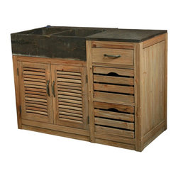 EuroLux Home - New Kitchen Vanity Double Sink Cabinet - Product Details