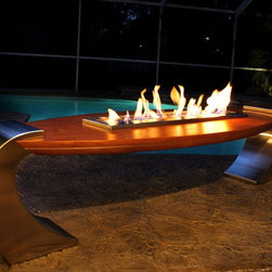 Board Fire Table - Board Fire Table by designer Shelly Meadows