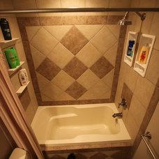 Showers by Bathroom Tile Shower Shelves