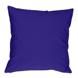 Pillow Decor - Pillow Decor - Caravan Cotton Royal Blue 20 x 20 Throw Pillow - Bold and beautiful, the Caravan Cotton 20 x 20 Throw Pillows are the ideal pillows for adding a simple splash of color to your decor.