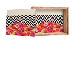 DENY Designs - Bianca Green Chevron Flora 2 Storage Box - Love yourself a knickknack or two (or three)? Well, then this is the box for you! The Amber Bamboo wooden Storage Box is available in two sizes with a printed exterior lid and interior bottom. So, you can still be a collector of sorts, but now you've got an organized home for it all. 100% sustainable, eco-friendly flat grain amber bamboo wood box with printed glossy exterior lid and interior bottom. Custom made in the USA for every order.