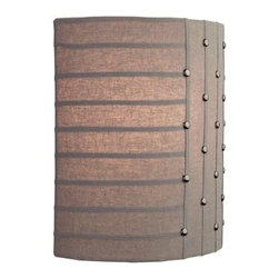 LBL Lighting - LBL Lighting Elba Wall 18W 120V 1 Light Wall Sconce - LBL Lighting Elba Wall 18W 120V 1 Light Wall SconceFeaturing a chic retro look, this trendy wall sconce showcases a natural fabric shade with metal hook and eye accents. The included energy efficient 18 watt triple tube compact fluorescent bulb lights up the fabric nicely for your 120 volt application.LBL Lighting Elba Wall 18W 120V Features: