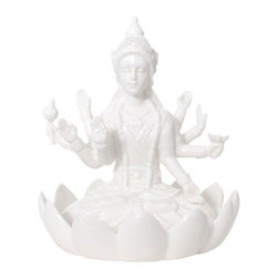 Imm Living - Kalyana Jewelry Holder - We know you had the best intentions to make it to yoga, but life sometimes has other plans for us that don't include a yoga mat. Experience the soothing effect of meditation with this porcelain jewelry holder. Your jewels will be displayed in a way that will bring you absolute nirvana. Namasté.