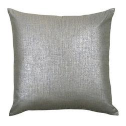 Mystic Home - Splendore Steel - Metallic Euro Sham by Mystic Home - The Splendore Steel, by Mystic Home