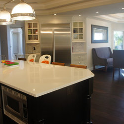 Shiloh Beaded Inset Kitchen by Kas White - This is a Beaded Inset Painted White Kitchen manufactured by Shiloh Cabinetry and designed by Kas White in Riverside, California.