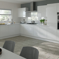 Trends - Petworth High Gloss White - Kitchen Doors - kitchen door workshop