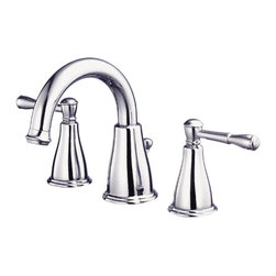 """Danze - Danze D304015 Chrome Widespread Faucet Two Handle - Danze D304015 Chrome Two Handle Widespread Lavatory Faucet is part of the Eastham Bath collection.  D304015 3 hole 6""""-12"""" Widespread lav faucet has a 4 3/4"""" long and 6"""" high spout, with a 50/50 pop-up drain.  D304015 Two lever handles meets all requirements of ADA.  California and Vermont compliant."""