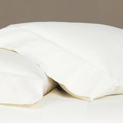 """Frontgate - Fresco Pillowcase - 100% cotton sateen woven in Italy. 600-thread count. Choose from several soft, warm colors. Machine Washable. Standard: 20"""" x 27"""" +5"""" overhang. King: 21"""" x 37"""" +5"""" overhang.. Whether you choose the Classic or the Luxe, the Fresco Sateen Bedding Collections from Eastern Accents offer simple elegance with clean lines. Fresco's streamlined appearance and the broad palette of our sateen offer versatile styling and plenty of sophistication for any decor.  .  .  .  . . Because this bedding is specially made to order, please allow 4-6 weeks for delivery.. Fabrics woven in Italy; sewn in the U.S.A. Part of the Fresco Sateen Bedding Collection."""