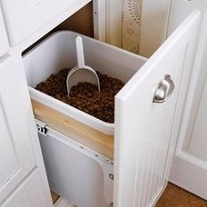 Laundry drawer of dog food & scoop