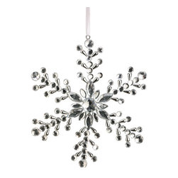 Silk Plants Direct - Silk Plants Direct Jewel Snowflake Ornament (Pack of 6) - Silk Plants Direct specializes in manufacturing, design and supply of the most life-like, premium quality artificial plants, trees, flowers, arrangements, topiaries and containers for home, office and commercial use. Our Jewel Snowflake Ornament includes the following: