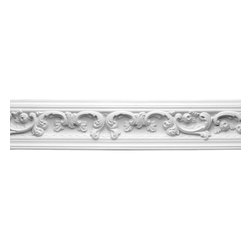 Renovators Supply - Cornice White Urethane Gilson - Cornice - Ornate | 12407 - Cornices: Made of virtually indestructible high-density urethane our cornice is cast from steel molds guaranteeing the highest quality on the market. High-precision steel molds provide a higher quality pattern consistency, design clarity and overall strength and durability. Lightweight they are easily installed with no special skills. Unlike plaster or wood urethane is resistant to cracking, warping or peeling.  Factory-primed our cornice is ready for finishing.  Measures 4 7/8 inch H x 79 5/8 inch L.