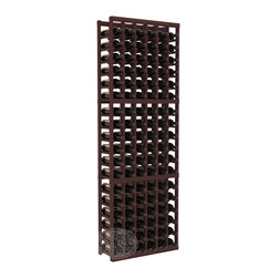 6 Column Standard Cellar Kit in Redwood with Walnut Stain - Six columns for bottle storage is a perfect solution for 9 cases of wine. The modular format ensures you can expand storage without worrying about new racks lining up properly. We construct every rack to our industry-leading standards. You'll love our racks. Guaranteed.