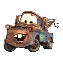 York Wallcoverings - Disney Cars Tow Mater Self-Stick Wall Accent Decal - FEATURES: