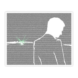 Postertext - The Great Gatsby: Gatsby And The Green Light Art Print - Made Entirely With Text - This The Great Gatsby poster is created using the entire text from the book.