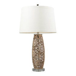 Dimond - Maria Golden Pearl Table Lamp - -Maria Golden Pearl Table Lamp  -Base material:Ceramic Dimond - D2261