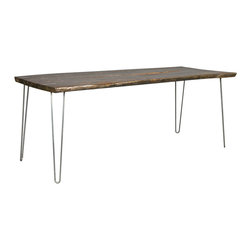 Madera home merida natural dining table with hairpin for Only dining table online