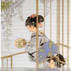 Oriental Furniture - Geisha Shoji Blinds - (36 in. x 72 in.) - Bring a touch of elegance into your home with Japan's superlative beauty, the Geisha. This shoji paper blind will meet many of your decorating needs.