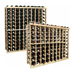 Vintner Series Wine Rack - Individual Bottle Wine Rack - 10 Columns - Each wine bottle stored on this four column individual bottle wine rack is cradled on customized rails that are carefully manufactured with beveled ends and rounded edges to ensure wine labels will not tear when the bottles are removed. Purchase two to stack on top of each other to maximize the height of your wine storage. Moldings and platforms sold separately. Assembly required.