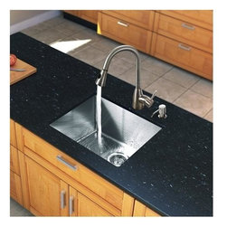Vigo Industries - 23 in. Steel Kitchen Sink and Faucet Set - Includes soap dispenser, matching bottom grid and sink strainer