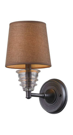 Elk Lighting - Elk Lighting 66821-1 Insulator Glass Traditional Wall Sconce in Weathered Zinc - Elk Lighting 66821-1 Insulator Glass Traditional Wall Sconce in Weathered Zinc