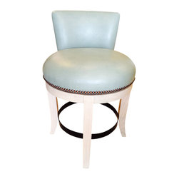 Faux Leather Counter Stool - This faux leather counter stool is stylish and elegant - and vegan friendly.  They swivel too.